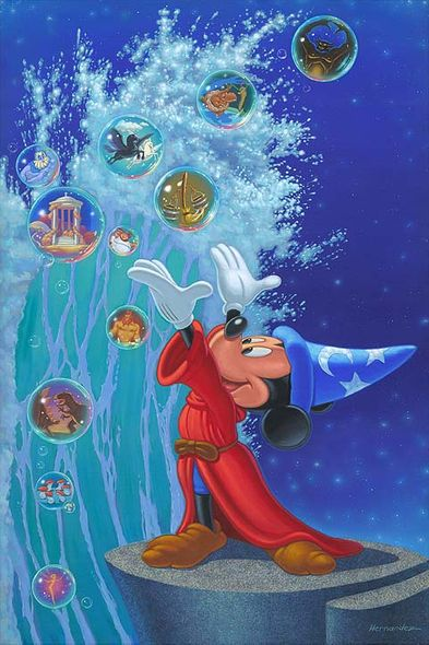 """Manny Hernandez Signed and Numbered Giclée on Canvas: """"Magical Sea"""""""