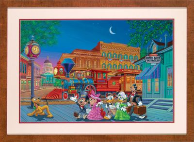 """Manuel Hernandez Framed Hand Signed and Numbered Limited Edition Mixed-Media on Paper: """"Arriving In Style """""""