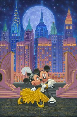 """Manuel Hernandez Handsigned and Numbered Limited Edition Canvas Giclee:""""Dancing Under the Stars"""""""