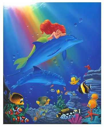 "Manuel Hernandez Signed and Numbered Limited Edition Hand-Embellished Giclée on Canvas:""Underwater Dreams"""