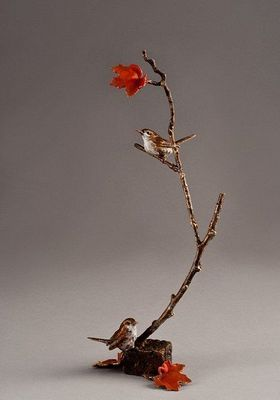 """Mark Hopkins Limited Edition Bronze Sculpture:""""Branching Out"""""""