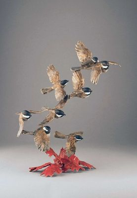 """Mark Hopkins Limited Edition Bronze Sculpture:""""In a Flury"""""""