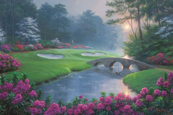 """Mark Keathley Hand Signed and Numbered Limited Edition Embellished Canvas Giclee:""""Dreams of Green"""""""