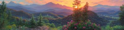 """Mark Keathley Hand Signed and Numbered Limited Edition Embellished Canvas Giclee:""""Evening Overlook"""""""