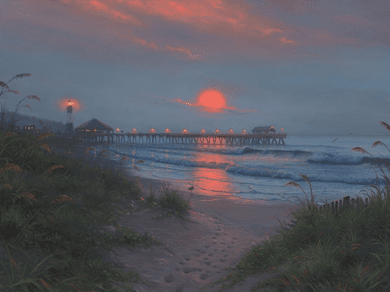 """Mark Keathley Hand Signed and Numbered Limited Edition Embellished Canvas Giclee:""""Solitude"""""""