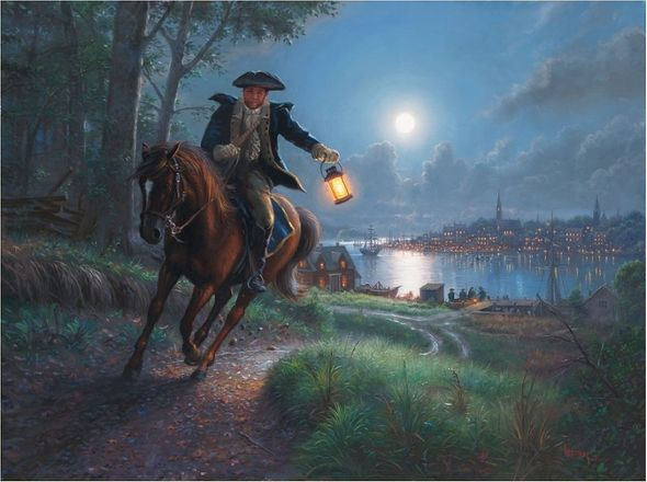 "Mark Keathley Hand Signed and Numbered Limited Edition Embellished Canvas Giclee:""Sound the Alarm"""