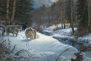 """Mark Keathley Hand Signed and Numbered Limited Edition Embellished Canvas Giclee:""""Valley of Shadows"""""""