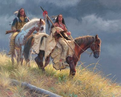 "Mark Keathley Hand Signed and Numbered Limited Edition Embellished Canvas Giclee:"" We Can Take This"""
