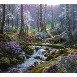 """Mark Keathley Handsigned and Numbered Limited Edition Hand Embelished Canvas Giclee:""""Nature's Harmony"""""""