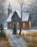 "Mark Keathley Artist Signed Embellished Limited Edition Canvas Giclee:""Moment of Silence"""