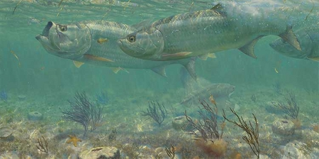"""Mark Susinno Handsigned and Numbered Limited Edition Print:""""Parade-Tarpon"""""""