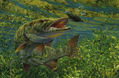 "Mark Susinno Limited Edition Print:""No Escape-Muskie"""