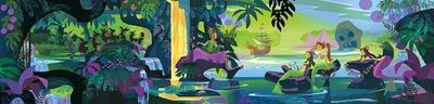 """Mark Swanson Signed and Numbered Giclée on Canvas : """"Magic Lagoon"""""""