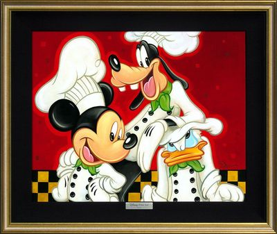 "Disney Framed Limited Edition Canvas Giclee:""Too Many Cooks"" by Tim Rogerson"