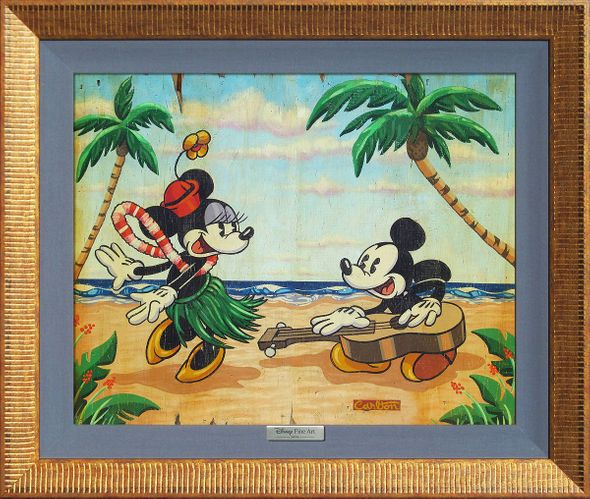 "Disney Framed Limited Edition Canvas Giclee:""Welcome to the Islands"" by Trevor Carlton"