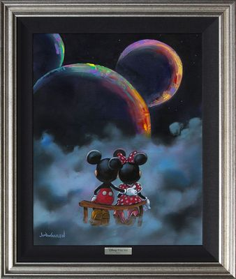 "Disney Framed Limited Edition Canvas Giclee:""The Planets Aligned"" by Jim Warren"