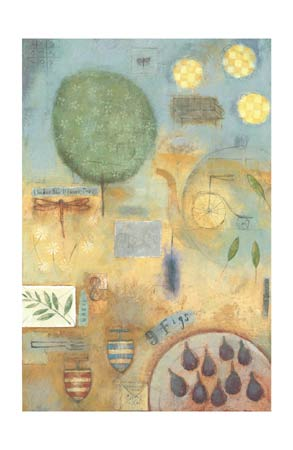 """Marti Somers Signed and Numbered Limited Edition Giclée on Somerset Velvet Paper:""""Nine Figs"""""""