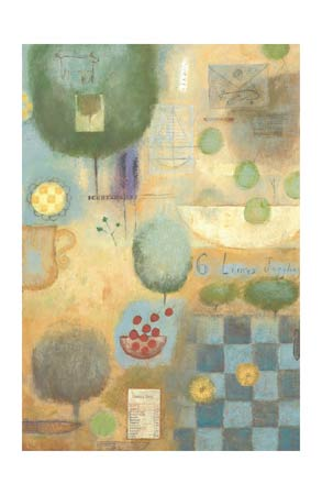 "Marti Somers Signed and Numbered Limited Edition Giclée on Somerset Velvet Paper:""Six Limes Juggling"""