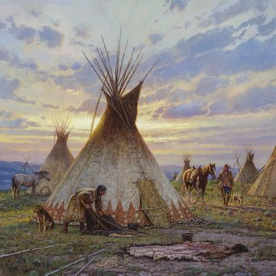 """Martin Grelle Hand Signed and Numbered Limited Canvas Giclee:""""Between Earth and Sky"""""""