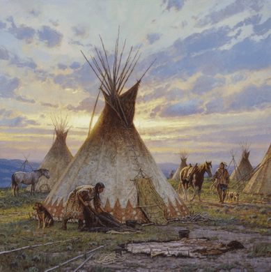 "Martin Grelle Hand Signed and Numbered Limited Canvas Giclee:""Between Earth and Sky"""