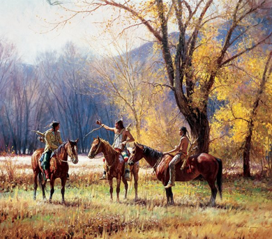 """Martin Grelle Hand Signed Limted Edition Framed Oversize Canvas Giclee:""""Teller of Tales *FREE FRAMING*"""""""