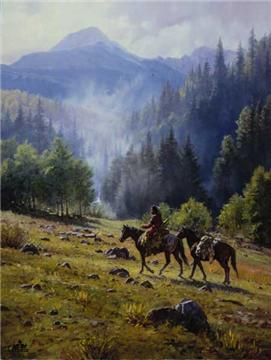 """Martin Grelle Handsigned and Numbered Limited Edition Print: """"Mists of Morning"""""""