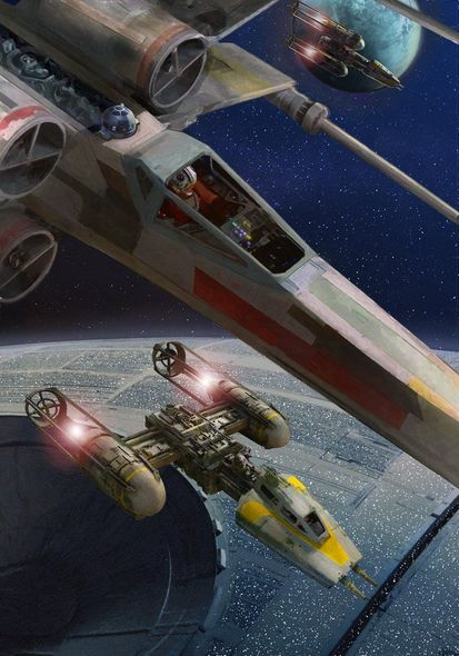 """Masey Artist Signed Limited Edition Star Wars Canvas Giclee:""""Going In"""""""