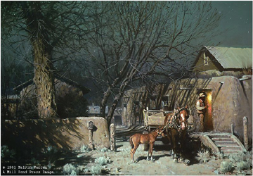 """Melvin Warren Limited Edition Publisher Proof (PP) Print:""""Night In Chimayo"""""""