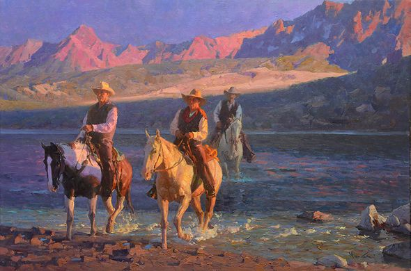 "Mian Situ Handsigned and Numbered Limited Edition Giclée Canvas:""Twilight Crossing"""
