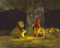 """Michael Coleman Handsigned & Numbered Giclee Limited Edition Print:""""Daniel In The Lion's Den"""""""