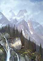 """Michael Coleman Handsigned & Numbered Giclee Limited Edition Print:""""Mountain Majesty-Grizzly"""""""
