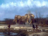 """Michael Coleman Handsigned & Numbered Giclee Limited Edition Print:""""On The Nunga River"""""""