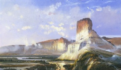 """Michael Coleman Handsigned & Numbered Limited Edition Giclee:""""Green River at  Wymoning Territority"""""""
