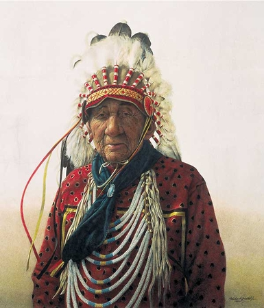 """Michael Gnatek Handsigned and Numbered Limited Edition Print:""""Tribal Wisdom"""""""