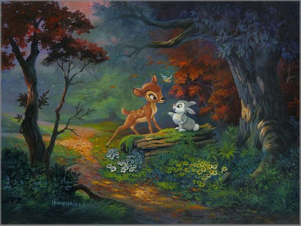 """Michael Humphries Hand Signed and Numbered Limited Edition Canvas Giclee:""""Friendship Blossoms, A"""""""