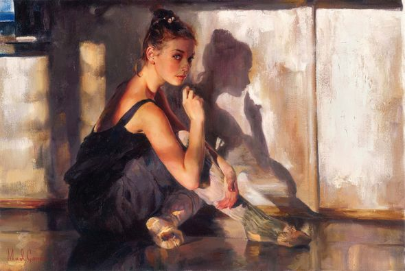 "Michael & Inessa Garmash Hand Signed and Numbered Limited Edition Embellished Giclee on Canvas:""State of Grace"""