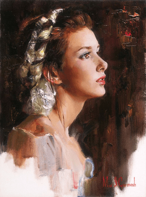 "Michael & Inessa Garmash Hand Signed and Numbered Limited Edition Embellished Giclee on Canvas:""Tomorrow Will Come"""