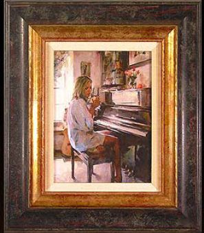 """Michael & Inessa Garmash Handsigned and Numbered Framed Limited Edition Giclee on Canvas:""""Morning Inspiration"""""""