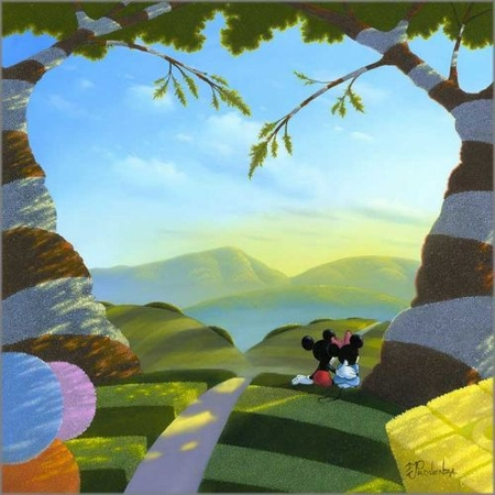 """Michael Provenza Hand Signed and Numbered Limited Edition Embellished Canvas Giclee:""""Love's Path"""""""