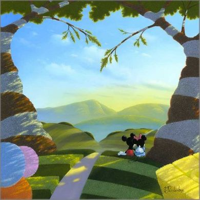 "Michael Provenza Hand Signed and Numbered Limited Edition Embellished Canvas Giclee:""Love's Path"""