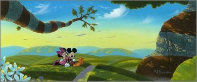 """Michael Provenza Hand Signed and Numbered Limited Edition Embellished Canvas Giclee:""""Lovin' a New World"""""""