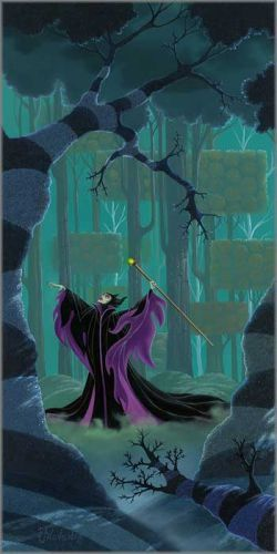 """Michael Provenza Hand Signed and Numbered Limited Edition Embellished Canvas Giclee:""""Maleficent Summons the Power"""""""