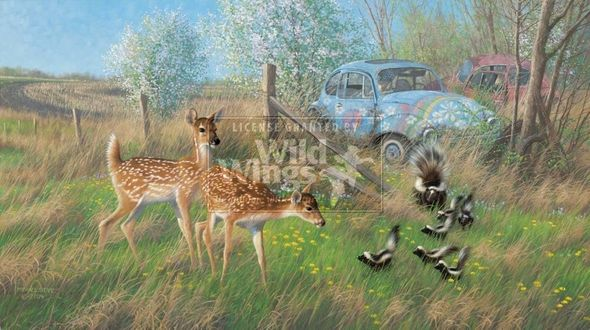 """Michael Sieve Hand Signed and Numbered Limited Edition Print: """"Flower Children"""""""