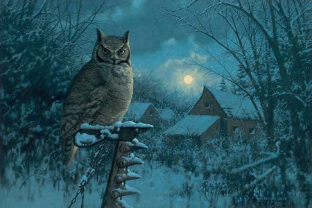 """Michael Sieve Hand Signed and Numbered Limited Edition Print:""""Tiger of the Night-Owl"""""""