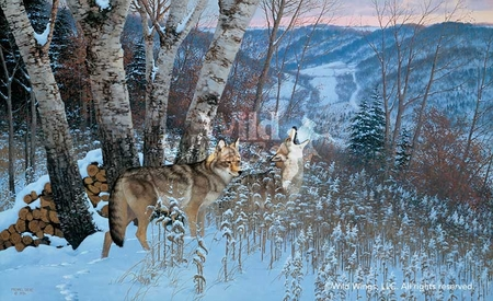 """Michael Sieve Handsigned and Numbered Limited Edition Print: """"Eastward Bound- Coyotes"""""""