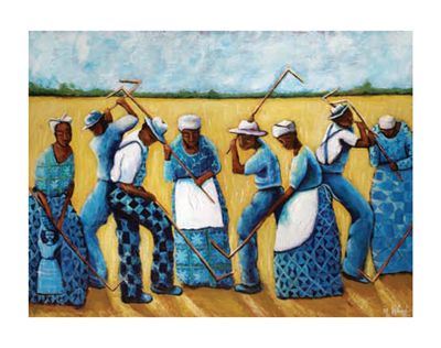 "Michele Wood Limited Edition Pencil Signed Giclee Ed. 500:""I See the Rhythm of Spirituals"""