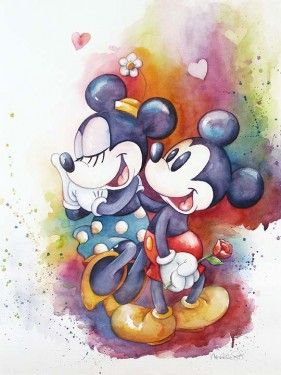 "Michelle St. Laurent Hand Signed and Numbered Limited Edition Giclee on Canvas:""A Rose for Minnie"""