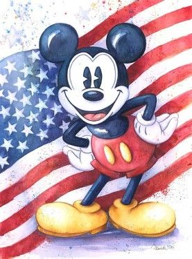 """Michelle St. Laurent Hand Signed and Numbered Limited Edition Giclee on Canvas:""""American Mouse"""""""