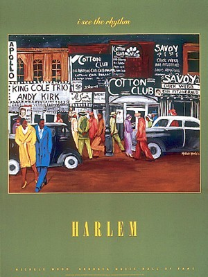 """Michelle Wood  Open Edition Poster:""""Harlem"""""""