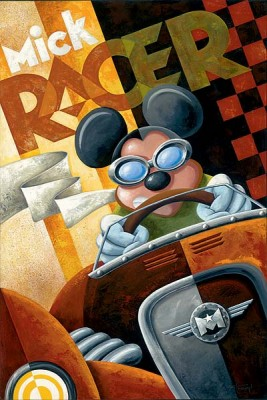 """Mike Kungl Limited Edition Giclee on Canvas: """"Mick Racer"""""""